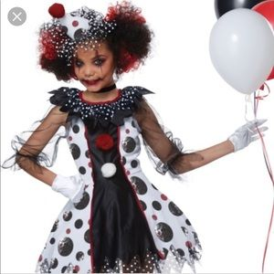 Adorable It Scary Clown Halloween Costume Kids